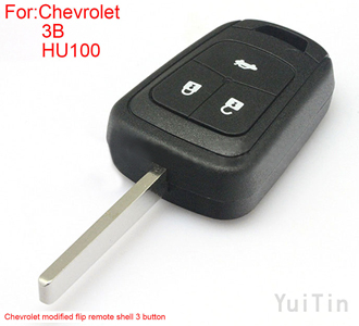 [CHEVROLET] modified flip remote shell 3 button